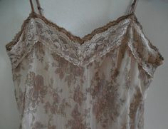 Brown Sheer Camisole Lined Camisole Brown Cami Top Lace Camisole Lace Nightie…