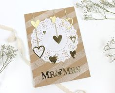 Enchanting Wedding Card using the First Edition Heart dies by Marketing Manager Claire