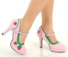 Strawberry Shortcake High Heel Costume Shoes