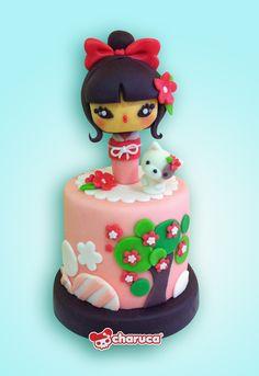 #Charuca cake. #Kokeshi love ^^