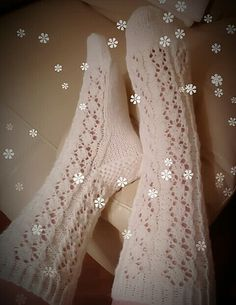 Handmade woolsocks - lace model is from here http://pin.it/D3Kd-n2