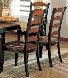 two+toned+tables   Two-Toned Dining Room Furniture W/ Choice of Round or Oval Table