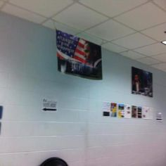 """Obama Poster FLA - Now we've learned that a poster featuring President Obama reading: """"Change the Atmosphere"""" purportedly hangs on the wall at a Florida polling station.     MRCTV's Dan Joseph posted the photo which was reportedly taken by a voter inside precinct 1321-1251 at Jack L McLean Community Center in Tallahassee, Florida. The source who took the photo claims the poster has been reported to the authorities."""