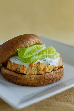 Salmon Burgers with Yogurt Dill Sauce | Look for clean horseradish (or grate your own and add vinegar). Cage-free organic eggs only. Use Ezekiel breadcrumbs. Plain non-fat Greek yogurt and clean whole wheat bread. (Or make it into a lettuce wrap.)