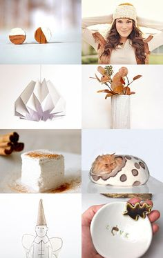 """""""a soft and cozy season"""" by Milli Starr #fallstyle #white #pumpkin inspired finds for #home and #her Click image to view full treasury and individual items on #etsy--Pinned with TreasuryPin.com"""