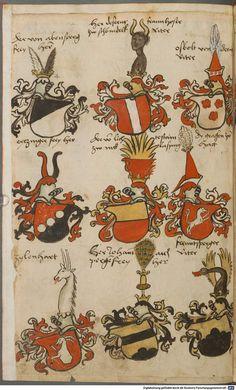 Wappen besonders von deutschen Geschlechtern Süddeutschland ?, 1475 - 1560 Cod.icon. 309  Folio 8v