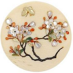 Late 19th century, Japanese Shibayama ivory buttons.