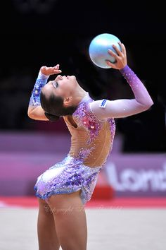 August 9, 2012; London, Great Britain; SILVIYA MITEVA of Bulgaria performs with ball on day 1 of qualifying at London 2012 Olympics. #RythmicGymnastics #Olympics