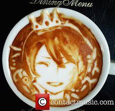 Coffee Latte Art, Rapunzel with short hair
