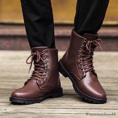 ef7e7b914438e New handmade Fashion Men s high casual military chukka ankle boots brown