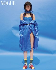 """koreanmodel: """"Bae Yoon Young by Park Ja Wook for Vogue Korea May 2017 """" Vogue Korea, High Fashion Photography, Editorial Photography, Photography Poses, Fashion Shoot, Editorial Fashion, Photoshoot Inspiration, Style Inspiration, Blue Fashion"""