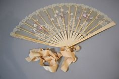 FRENCH LACE AND IVORY FAN RETAILED THROUGH TIFFANY & CO. (Circa 1890-1900)…
