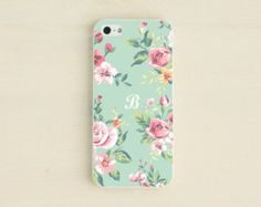 iPhone case - Mint Floral iPhone 5 Case - Pastel Mint iPhone 5S case - Floral iPhone 4 case - Personalized iPhone 4S case CCCPFL01