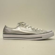 0c099fc292f9 Converse Mens US 11 EU 45 Chuck Taylor Low Top Metallic Silver Tinman Shoes   Converse  SkateShoes