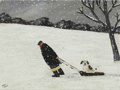 Gary Bunt. The Sledge - I think it's cruel In the Winter When a dog's paws Get cold and wet So I told my master To buy me a sledge Or I would report Him to the vet