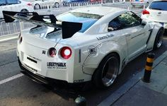 "NISSAN GT-R BY ""LIBERTY WALK "" I really like this tuning club #libertywalk #Japanesetuning #automotivation #besthobbyever R35 Gtr, Nissan Gtr R35, Tuner Cars, Jdm Cars, Liberty Walk Cars, High End Cars, Cars Usa, Wide Body, Sweet Cars"