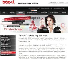 document shredding - http://www.idatadestruction.co.uk