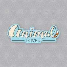 Animal Lover Sticker, Fox Sticker, Vinyl Sticker, Laptop Sticker, Decal, Cute Sticker, Party Favor, Hand Lettering Sticker, Gifts Under 5