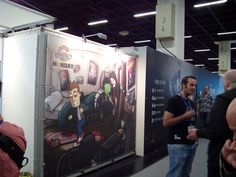 Another view of Randal's Monday at Gamescom.