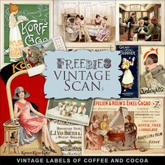 Far Far Hill - Free database of digital illustrations and papers: Freebies Vintage Labels Kit
