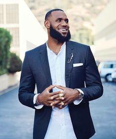 All Smiles. Lebron James Family, King Lebron James, King James, Nba Fashion, Mens Fashion Suits, Black N White, Black Men, Lebron James Lakers, Save Instagram Photos