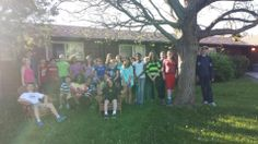 The #Leaders all together in front of a cabin! #TeamBonding #Leadership2014