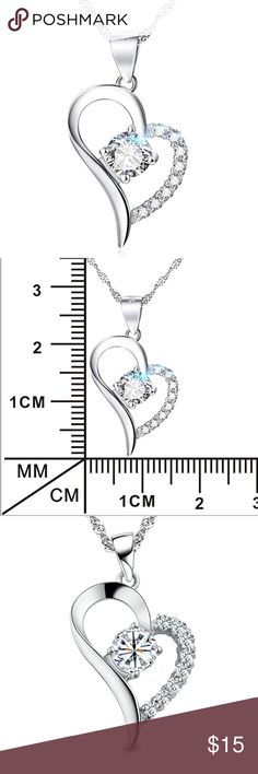 ❤️❤️CZ Forever Love Heart Necklace❤️❤️ ❤️❤️Only Today Buy any two Jewelry Get the 3rd one free❤️❤️ Prices will depend the highest two- For example ' if you pick jewelry $9,$10 and $8, the prices will be 9+ 10= 19 and you will get the 8 dollars jewelry free, limited in stock, today only ❤️❤️ Jewelry Necklaces
