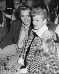 """Lucy and Desi  - Lucy pregnant with first baby.  - """"They look so happy here."""""""