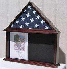 Military Shadow Box, Burial/Funeral Flag Display Case for 5' X 9.5' Flag, Mahogany Finish, Solid Wood (FC07-MA) by NULL, http://www.amazon.com/dp/B002NZIQSI/ref=cm_sw_r_pi_dp_K17nqb1C345EM