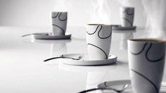 Iittala Cup And Saucer 新品MENUサーモカップ&プレート&スプーン4Pセット 北欧iittala インテリア 雑貨 家具 Modern ¥12800yen 〆11月04日