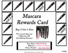 Mary Kay Mascara Rewards Card!