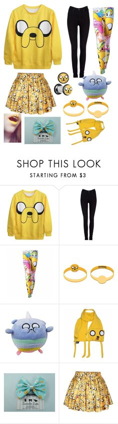 """Jake the dog adventure time"" by ginaisanerd ❤ liked on Polyvore featuring Lee and Retrò"