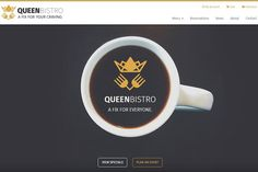 Queen Bistro – Cafe and Restaurant by ThemeGeeks Shop on @creativemarket