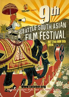 9th Seattle South Asian Film Festival on Behance