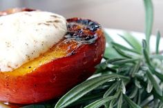 Design Your Life: Grilled Peaches with Cinnamon Cream