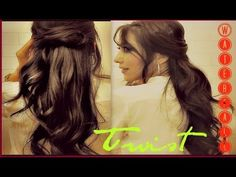 ★HOW TO TWIST WATERFALL BRAID on yourself -  FOR SHORT MEDIUM LONG HAIR TUTORIAL| ROMANTIC HALF-UP UPDO HAIRSTYLE #hairstyles #hair #hairtutorial #updos #updo #hairstyle #braid #longhair #mediumhair #wedding #bridal #curls