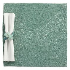 The understated elegance of our Seafoam Beaded Placemat provides a sophisticated background for any table setting. Set of 4, $119.80