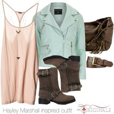 """Hayley Marshall inspired outfit/The Originals"" by tvdsarahmichele on Polyvore"