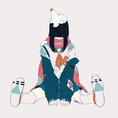 Beautiful Drawings, Cute Drawings, Aesthetic Art, Aesthetic Anime, Character Art, Character Design, Sun Projects, Dibujos Cute, Chica Anime Manga