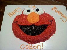 Elmo Face  Shaped Cake