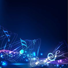 Abstract blue music background vector material