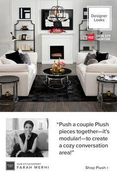 Home Living Room, Apartment Living, Living Room Designs, Living Room Furniture, Living Room Decor, Living Spaces, Home Design Decor, Home Interior Design, House Design