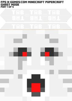 I've put together a printable template to create your own Minecraft Ghast mask. This mask comes in two versions; Minecraft Mask, Minecraft Costumes, Minecraft Room, Minecraft Birthday Party, Kids Dress Up, Trunk Or Treat, Easy Crafts For Kids, Diy Halloween Costumes, Mask For Kids