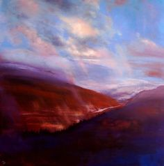 ARTFINDER: As Far as the Eye can See by John O'Grady - I love a big sky and with this larger size painting, I took on the challenge of capturing an open vista viewed from a high viewpoint to give it distance. The...