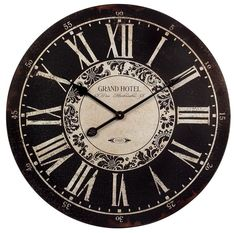 IMAX Large Wall Clock Oversized Silent Numeral Rustic Paris French Home Office  #Imax #FrenchCountry