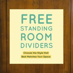 If you need to define areas in a room but don't want to do any construction, then be sure to check out these creative freestanding room divider ideas. Freestanding Room Divider, Metal Room Divider, Small Room Divider, Room Divider Bookcase, Bamboo Room Divider, Room Divider Walls, Living Room Divider, Diy Room Divider, Divider Ideas