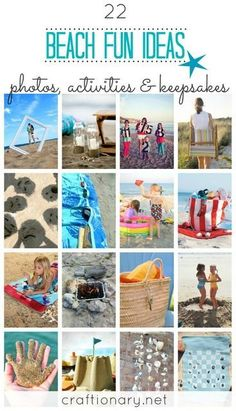 Awesome ideas for your next day at the beach