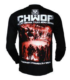 Longsleeve 'CHWDP' - tył ---> Streetwear shop: odzież uliczna, kibicowska i patriotyczna / Przepnij Pina!