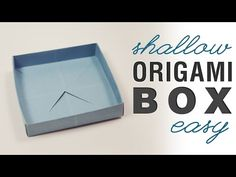 Square & Shallow Origami Masu Box Tutorial, Learn how to fold a useful shallow origami box, folded the same way as a masu box, it becomes a nice short, wide box. It's very easy too! Origami Swan, Origami Ball, Origami Paper, Origami Flowers, Origami Design, Origami Instructions, Origami Tutorial, Origami Box With Lid, Origami Boxes