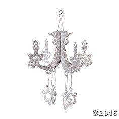 $5.99 - Silver Glitter Chandelier